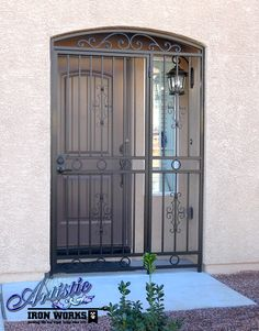 Wrought Iron Entryway Gate
