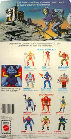 Motu Repro Blister And Weapons Skeletor - Masters Of The Universe 2 Comic Games, Comic Movies, Retro Toys, Vintage Toys, Man, Thundercats Toys, 1980 Cartoons, Cartoon Toys, Sci Fi Horror