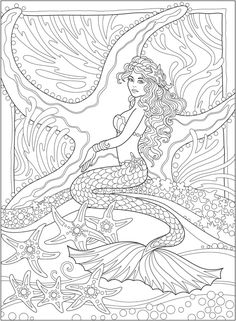 Adult Coloring Pages Mermaid from Mermaid Coloring Pages Printable. Since centuries ago, the ocean had kept mysteries and haunted stories like sea monsters. This is what causes ocean exploration to be an adventure that. Mermaid Coloring Book, Fairy Coloring Pages, Adult Coloring Book Pages, Christmas Coloring Pages, Printable Coloring Pages, Coloring Books, Coloring Sheets, Free Coloring, Kids Coloring