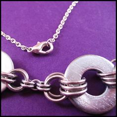 Chainmail and Hardware Necklace | Flickr - Photo Sharing!