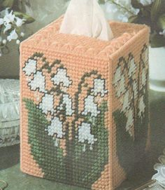 LILY OF THE VALLEY TISSUE BOX COVER PLASTIC CANVAS PATTERN INSTRUCTIONS   | Crafts, Needlecrafts & Yarn, Embroidery & Cross Stitch | eBay!