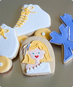 decorated cookies: olivia newton-john in Xanadu + a recipe for vanilla-clementine cut-out cookies