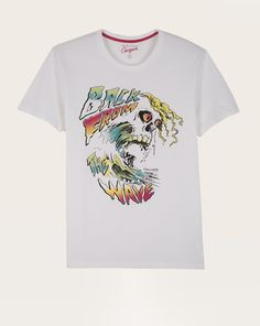 T-shirt homme straight Chevignon col rond blanc Eté 2015