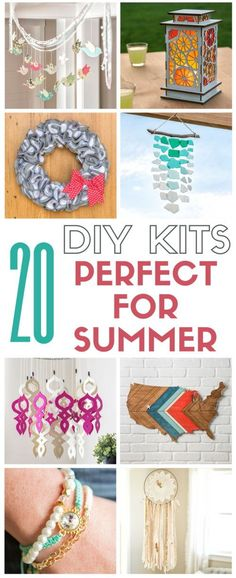 A collection of 20 DIY kits that are perfect for summer! All kits include everything needed to complete! Apostrophe S kit make great gifts too!