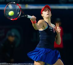 Alize Cornet in action at the Dubai Duty Free Tennis Championships #WTA