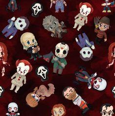 Wallpaper Kawaii, Funny Iphone Wallpaper, Halloween Wallpaper Iphone, Halloween Backgrounds, Halloween Fabric, Dog Halloween, Holidays Halloween, Chibi, Horror Artwork