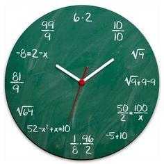 Relógio de Parede Geek Blackboard :: Hmmm
