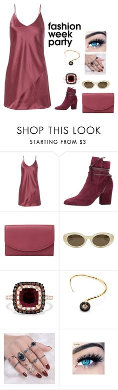 """""""Red Velvet Party"""" by agdancer10 ❤ liked on Polyvore featuring Fleur du Mal, Sergio Rossi, Skagen, Elizabeth and James, Effy Jewelry, Charlotte Chesnais and MINX"""
