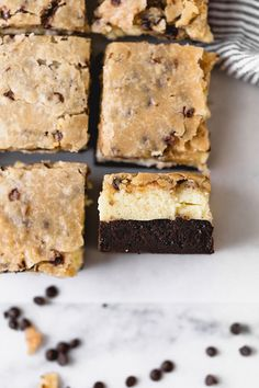 These Brownie Bottom Cookie Dough Cheesecake Bars take indulgence to a whole other level! The last few days here in Arizona have been wonderfully chilly. Of course, nothing compared to the spring snow