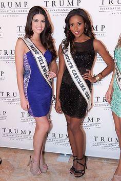 Miss Delaware USA 2013, Rachel Baiocco; and Miss South Carolina USA 2013, Megan Pinckney | #MissUSA