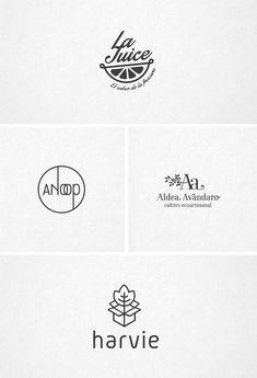 Diferentes logotipos, cultivo ecologico, zumos y refrescos, envío de flores por mensajería