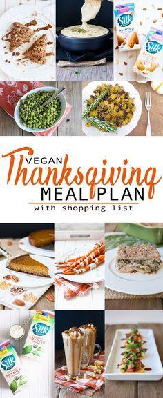 Vegan Thanksgiving Meal Plan with Shopping List | www.veggiesdontbite.com | #vegan #plantbased #glutenfree #ad #LoveMySilk  via @veggiesdontbite