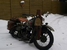 1942 Harley Davidson WLA Classic Motorcycle Pictures