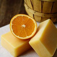 Fresh Squeezed Orange & Nutmeg Cold Process Soap - Handmade Soap - Vegan Soap - Orange Soap - Bar Soap