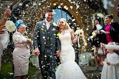 Glamourous, Peach and Blush Pink English Barn Wedding