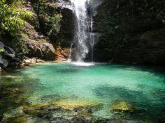 Cachoeira Santa Bárbara em Cavalcante - Chapada dos Veadeiros
