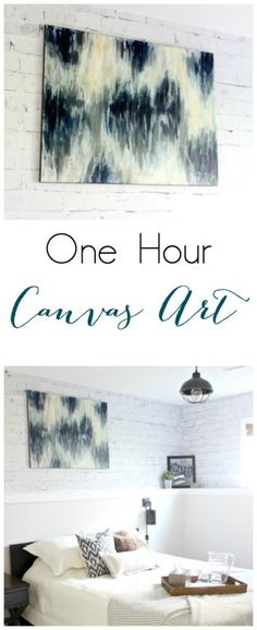 Beautiful DIY large Canvas Art - Perfect decor for any room! The video tutorial is great!                                                                                                                                                     More