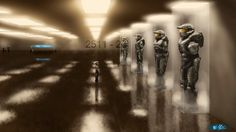The Master Chief Museum, that little kid in the art is epic