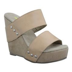 f63cd78fd96 Volatile Karma Leather Wedge Sandals
