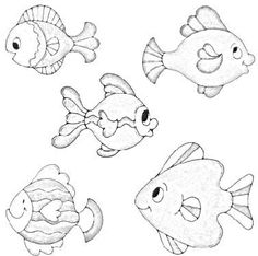 Pattern Coloring Pages, Colouring Pages, Coloring Sheets, Felt Animal Patterns, Fish Patterns, Applique Patterns, Digi Stamps, Felt Animals, Animal Drawings