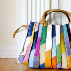 want it to be mine - handmade leather patchwork bag bu yoshinoBag