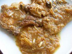 Chuletas de cerdo en salsa de membrillo