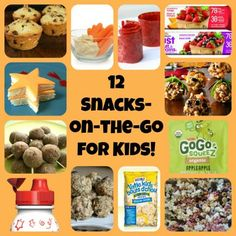 12 Great Snack Ideas For Kids On-The-Go