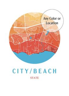Any Place! Any Color! 5 Different sizes. Your choice to customize it exactly how you would like!  StudioNJay makes custom prints for everyone to enjoy! Commemorate your favorite places with these abstract bold colored maps. University campus maps, beaches or Cities. Any color! Campus Map, Beach Print, City Beach, Marketing And Advertising, Beaches, Maps, Cities, University, Abstract