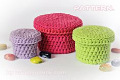 etsy pattern for crochet baskets with lids