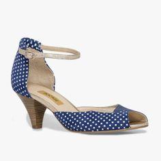 92b8a5edd7d0e Escarpin Bleu, Bleu Blanc Rouge, Cuir Lisse, Velours, Bocage, Collection De