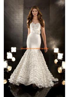 2013 Sexy dramatische Brautkleider aus Satin Meerjungfrau mit Kristalle