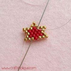 How to Make Brick Stitch Star Earrings - Diy Earrings Bead Jewellery, Seed Bead Jewelry, Seed Bead Earrings, Beaded Jewelry, Beaded Bracelets, Wire Jewelry, Star Earrings, Diy Earrings, Hoop Earrings