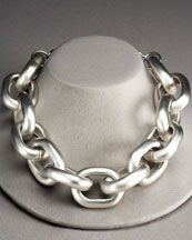 Kenneth Jay Lane Chunky Link Necklace--I'd love to have an occasion to wear this...