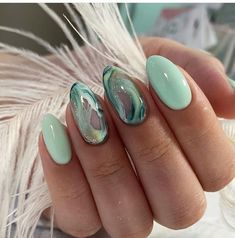 Green Nail Designs, Nail Art Designs, Design Art, Nails Design, Perfect Nails, Gorgeous Nails, Pretty Nails, Ongles Or Rose, Nails Kylie Jenner