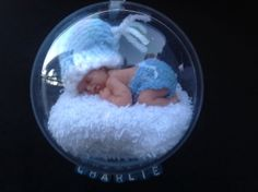 Baby loss/birth memory bauble by Foreverourangels on Etsy