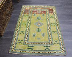 turkish rug oushak rug vintage rug turkey by TurkishRugEmpire