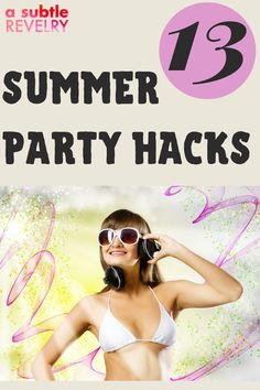 Sharing with you summer party hacks you will surely enjoy! Tis' the season for BBQs and outdoor summer fun. We often have friends over last minute in the summertime. These simple party hacks will keep your summer party, going off without a hitch. And they all can be done in 5 minutes or less. Check this pin now! #summerparty #summerpartyhacks #summer #partyhacks Summer Parties, Summer Fun, Summer Time, Party Hacks, Diy Party, Party Ideas, Low Calorie Cocktails, Diy Christmas Decorations Easy, For Your Party