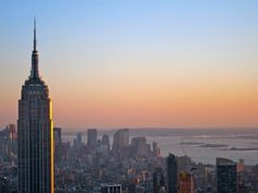 """View from """"Top of the Rock"""" (Rockefeller Center) at sunset - New York, NY"""