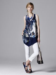 White skinny jeans are the perfect base for a statement tank. Shop Simply Vera Vera Wang at Kohl's.