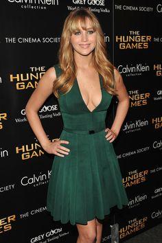 Jennifer Lawrence Green Dress