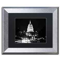 """Trademark Art """"United States Capitol"""" by Philippe Hugonnard Framed Photographic Print Size: 1"""