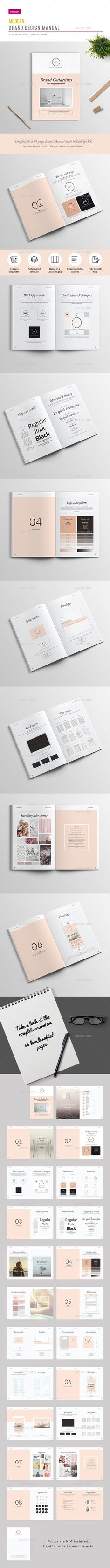 44 Pages Brand Manual Template InDesign INDD. Download here: http://graphicriver.net/item/brand-manual-44-pages/16648234?ref=ksioks