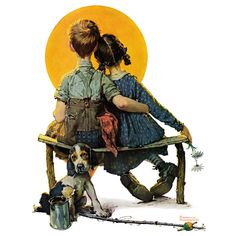 Marmont Hill 'Sunset' by Norman Rockwell Painting Print on Wrapped Canvas Norman Rockwell Prints, Norman Rockwell Paintings, Peintures Norman Rockwell, Painting Prints, Art Prints, Artist Painting, Oil Paintings, Edward Hopper, Art Museum