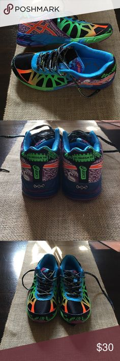 Asics Ladies Gel Noosa Tri 9 💥💥Asics Ladies Gel-Noosa Tri 9 running shoe.💥💥In brand new condition!  Worn 3 times!  Only worn around the house. I have never ran in these!  Awesome colors!  Pics really can't tell how great theses look!  Size 7. Thanks for looking in my closet!💋 Asics Shoes Athletic Shoes