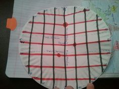 Here's a great idea for a paper plate foldable on latitude and longitude.