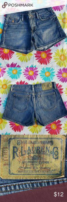 Selling this Ralph lauren blue label jean shorts on Poshmark! My username is: kelly2kae. #shopmycloset #poshmark #fashion #shopping #style #forsale #Ralph Lauren #Pants