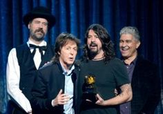 """Beatles icon Paul McCartney didn't immediately recognize the surviving members of Nirvana when they got together to record """"Cut Me Some Slack"""" with Dave Grohl a couple years ago, he confessed backstage at the Grammy Awards on Sunday night."""