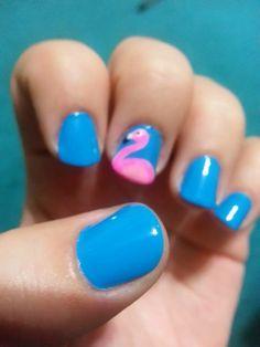 Flamingo summer nails