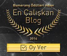 """4. Bumerang Ödülleri'nde """"En Çalışkan Blog"""" Adayıyız! oy vermek için: http://hur.so/dbzz3w"""
