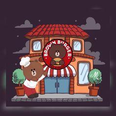 Brown Cony Brown, Brown Bear, Bear Gif, Chibi Cat, Bear Illustration, Brown Line, Friends Wallpaper, Cute Love Cartoons, Line Friends